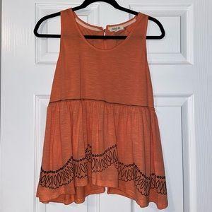 Cute lace orange tank with pretty back